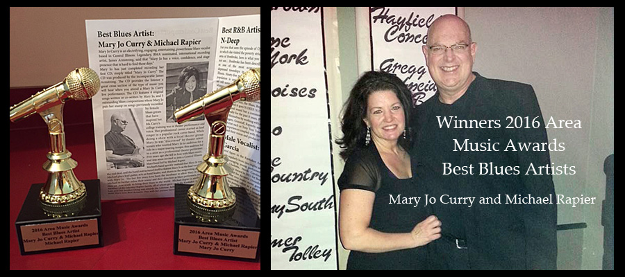2016 Area Music Award Best Blues Artists Mary Jo Curry and Mike Rapier
